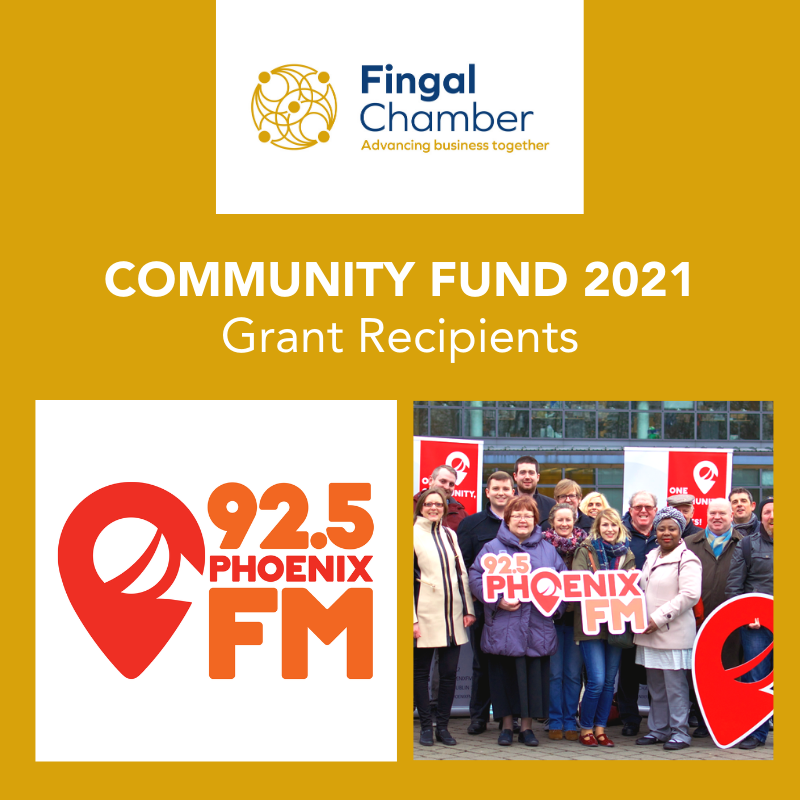 Fingal Chamber Community Fund grant for Phoenix FM